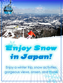 Enjoy a winter trip, various snow activities, gorgeous views, onsen, and more!