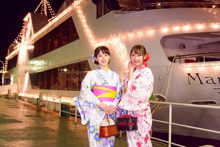 Yokohama Port Cruise with a yukata