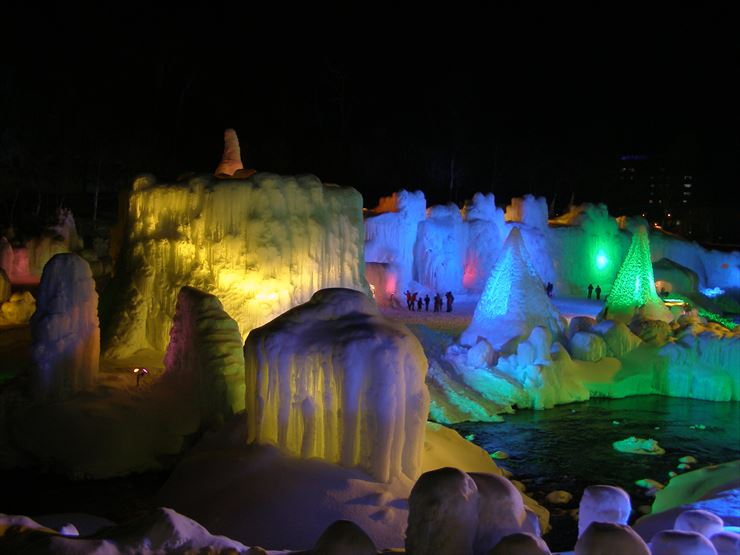 Sounkyo, Kamikawa Ice Fall Festival