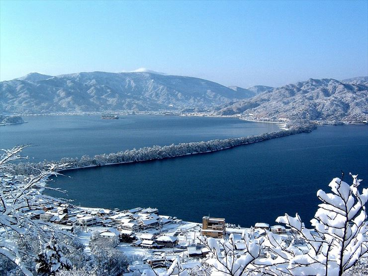 amanohashidate in winter